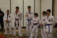 A Depasquale ju-Jitsu group watching the instuction